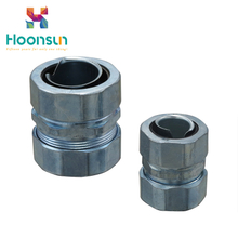 2018 wholesale zinc alloy DPJ galvanized steel Flexible Conduit Connector of cheap low price
